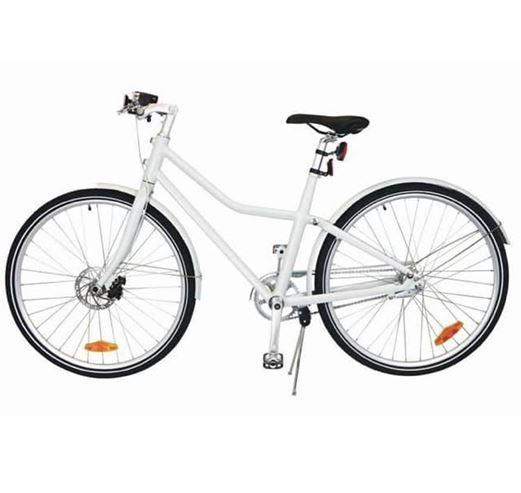Unisex Fiets 'City Bike Deluxe' 28-inch – Wit